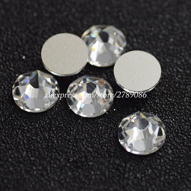 Aliexpress Com Buy 1440pcs Gold Bottom Crystal Clear: SS3 SS30 Clear White Crystal (Gold Bottom) 3D Nail Art Non