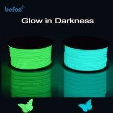 3D Pen Printer Filament PLA 1.75mm Luminous Glow in Dark Plastic 3D Consumables Material for 3D Pen Printer Net Weight 0.5kg