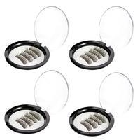 4pcs/Pair Magnetic Magnet Eyelashes Eye Makeup Kit Thick Good Quality 3d Mink Magnetic False Eyelashes Dropshipping 5