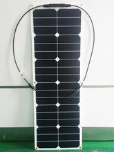 Solarparts 1 PCS 40 W ETFE flexible panneaux solaires modules de cellules pour voiture yacht RV 12 V chargeur avec jonction boîte MC4 connecteur
