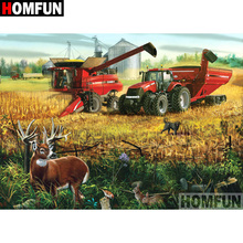 HOMFUN 5D DIY Diamond Painting Full Square/Round Drill Tractor scenery Embroidery Cross Stitch gift Home Decor Gift A09179 homfun 5d diy diamond painting full square round drill tractor scenery embroidery cross stitch gift home decor gift a09181