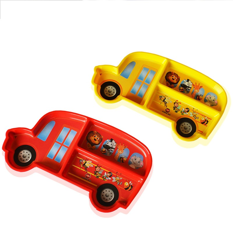 3PCS set New car modeling cartoon Infant Baby Kids Children Feeding Tableware Dishes Plate