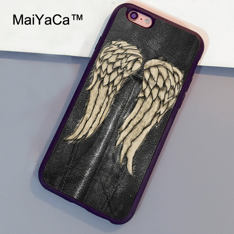MaiYaCa the walking dead daryl dixon Case For iPhone 6 6s Plus Luxury Soft TPU Back Cases Capa Coque For iPhone 6s Plus Case