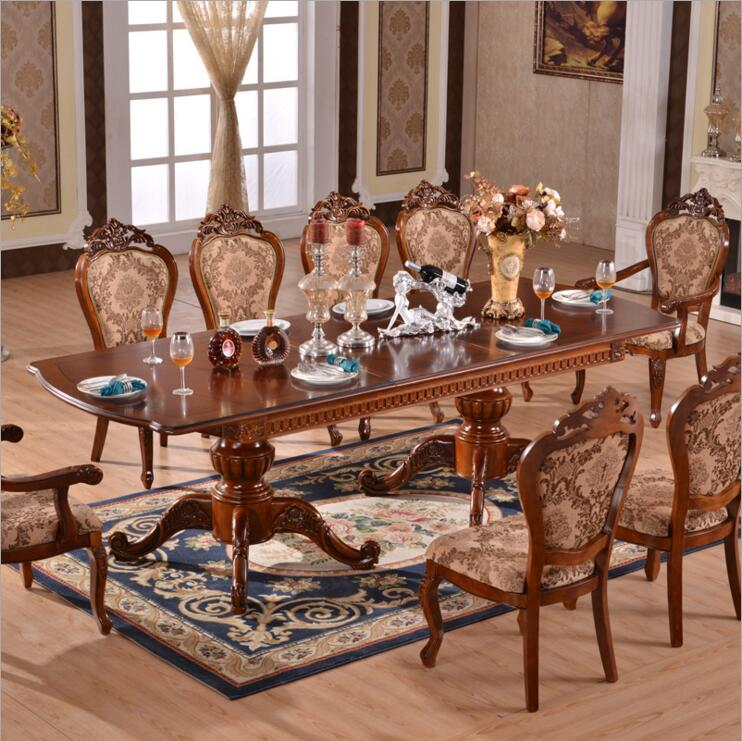 Modern Style Italian Dining Table, 100% Solid Wood Italy Style Luxury Dining Table o1132 montgomery table classical fashion wood and iron table european style village solid wood metal dining side table dining car