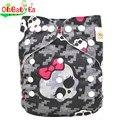 Ohbabyka fralda capa tamanho único calças capa de fralda respirável fraldas de pano do bebê fraldas reutilizáveis à prova d' água para o bebê caber 3-15 kg