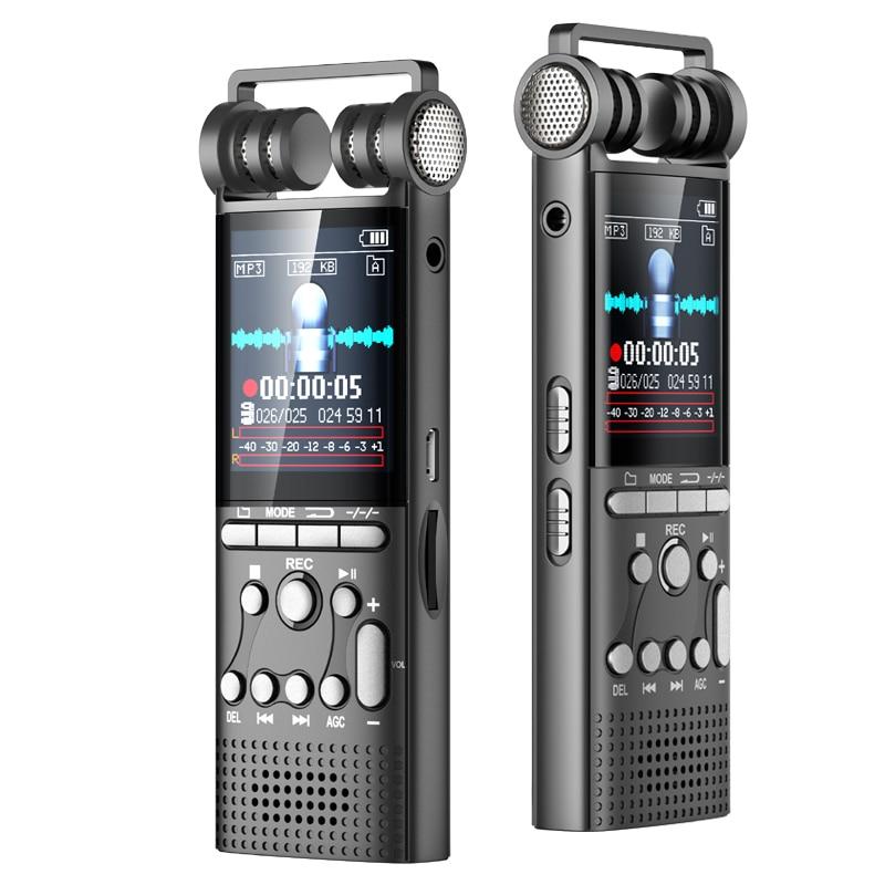 Enregistreur vocal Audio numérique professionnel activé par la voix 16 GB stylo USB enregistrement sans arrêt 100hr PCM 1536 Kbps, prise en charge de la carte TF