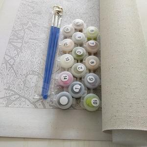 Безрамный Kiss Lover DIY Набор для рисования по номерам, Современная Настенная живопись, ручная живопись маслом на холсте для домашнего декора
