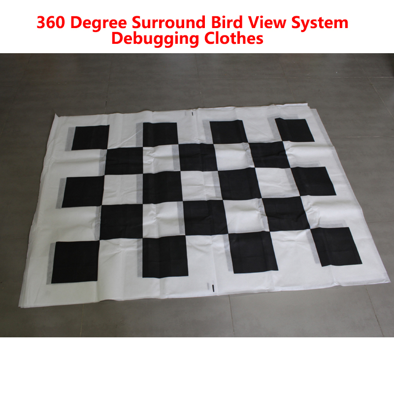 Fabrics Calibration Cloth Special for 360 Degree Surround Bird View System Debugging Clothes 4pcs/set Nonwoven