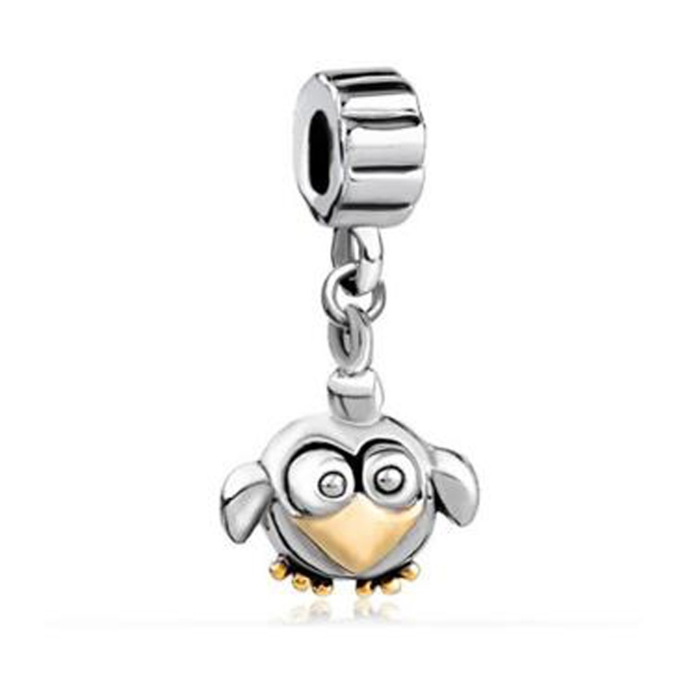 Pandora Jewelry Free Shipping: Free Shipping Lovely Golden Bird Beads Charms Fit Pandora
