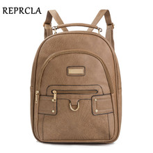 REPRCLA High Quality Women Backpack PU Leather Large School Bags for Girls Casual Travel Shoulder Bags Female Backpacks Mochila new corduroy backpack high quality school bags for teenger girls casual travel backpacks solid color rucksack mochila xa1867c