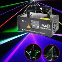 Портативный RGB диско свет светодио дный эффект DMX лазерный проектор Lumiere DJ музыка Лазерная сценическая подсветка клубвечерние Вечеринка Тан