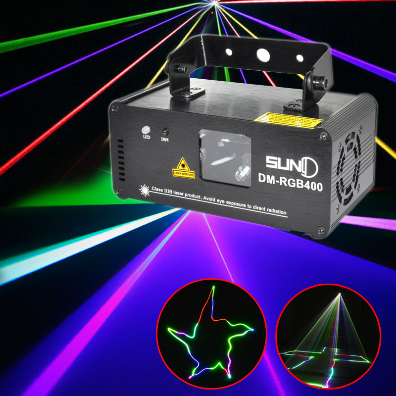 Portable RGB Disco Light Led Effect DMX Laser Projector Lumiere DJ Music Laser Stage Lighting Club Party Dancing Strobe Light