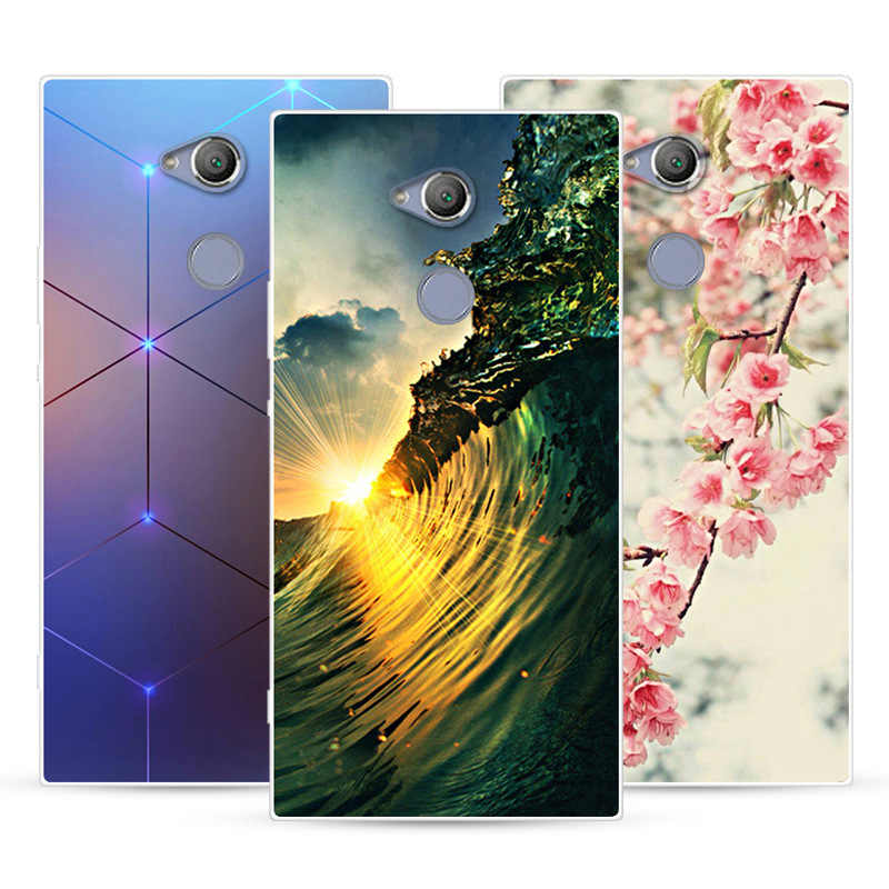Phone Case For Sony Xperia XA2 Ultra Soft Silicone TPU Fashion Flower Painted Back Cover For Sony Xperia XA2 Ultra Case