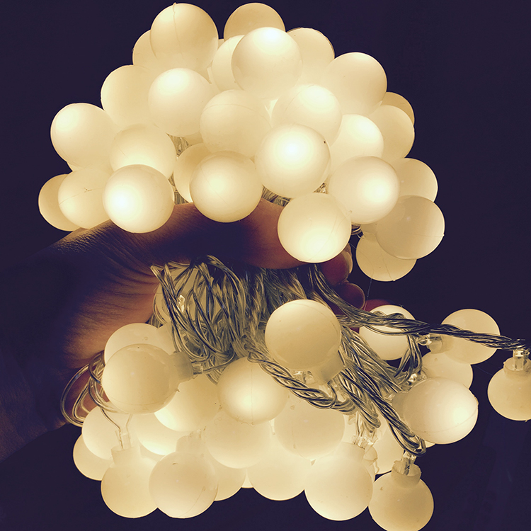 220/110V 10M 100 LED Cherry Ball String Lights Holiday Wedding Christmas Outdoor Garland Home Decoration Night lamp Fairy Lights bask simple v2