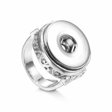 Hot sale high quality 005 fashion DIY metal ring fit ginger 18mm snap button rings jewelry charm rings for women