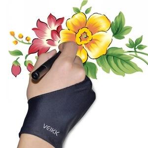 Перчатки для рисования планшета, перчатки для графического планшета, бесплатные размеры для правой и левой руки
