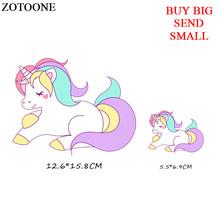 ZOTOONE Unicorn Patch Iron On Transfe Cartoon Animal Patches For Children Girl Clothing Stickers DIY T-shirt Applique Heat Press(China)