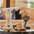 Скандинавская керамическая креативная ваза для лица человека набор горшок для оформления дома аксессуары ремесла украшение комнаты стари...