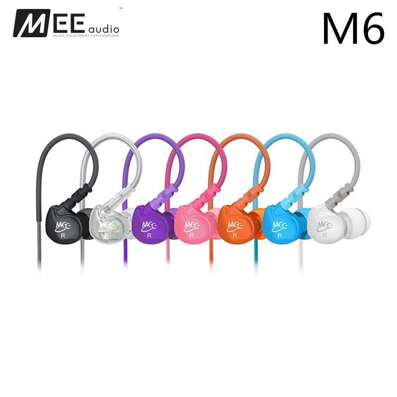 Original MEE Audio M6 Sport-Fi Noise Cancelling Sports Earphone Headphones Bass Music mp3 Headset For iphone android ios Phones