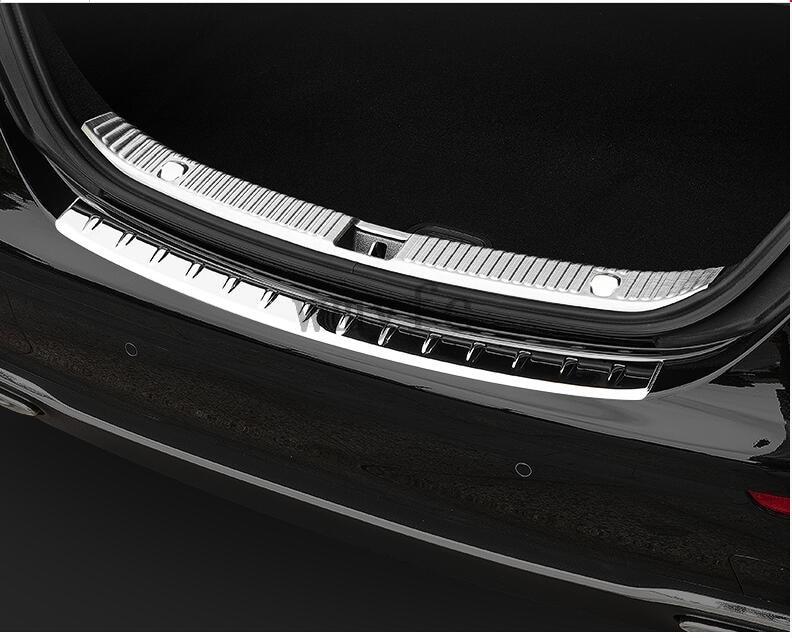 Accessories For Mercedes Benz E-Class E CLASS W213 Sedan 2016 2017 2018 Rear Bumper Protector Trunk Guard Sill Plate Cover Trim lapetus accessories for mercedes benz e class e class w213 2016 2018 abs gear box shift panel cover trim carbon fiber style
