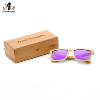 AP Bamboo Sunglasses Polarized Brand Designer Mirror Original Wood Sun Glasses Original Box Retro Vintage