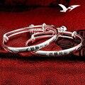Baby silver bracelet S999 full silver smart bright silver child full moon bracelet baby bracelet jewelry wholesale