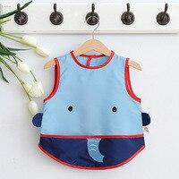 CN RUBR New Fashion Baby Bibs Cartoon Burp Cloths For Boy Girl Waterproof Baby Feeding Care