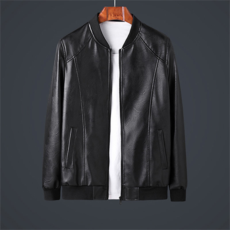 Thoshine Brand Spring Autumn Men Leather Jackets Pockets Smart Casual Style Male PU Faux Leather Jacket Moto & Biker Outerwear