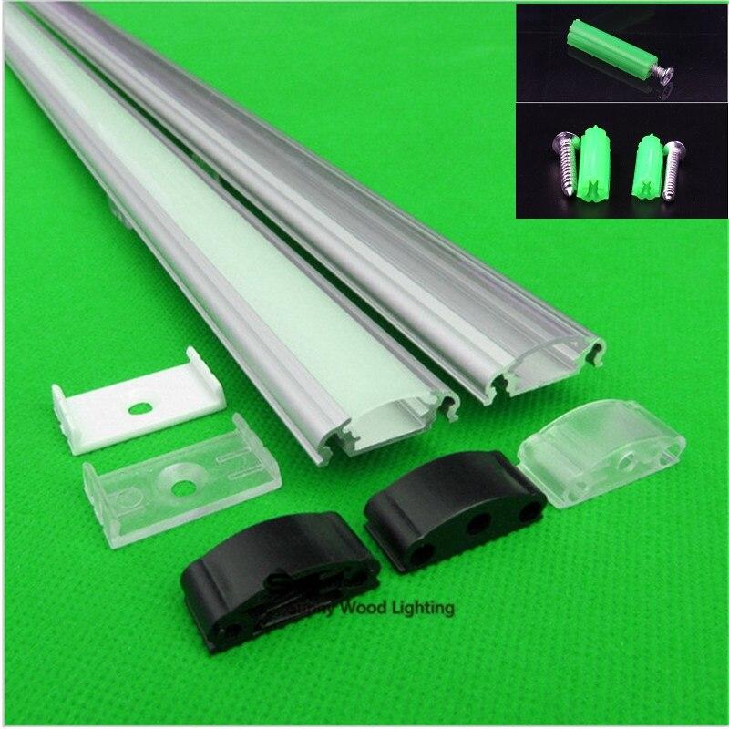 5-30 pcs 40 pouces 1 m profil en aluminium pour led bande, laiteux/transparent couverture pour 12mm 5050 5630 5730 dur bande LED bar lumière