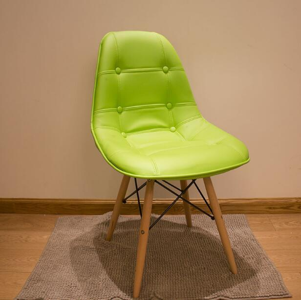 YINGYI New Design Modern PU Leather Dining Chair Without Arms Free Shipping