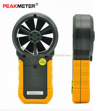PEAKMETER Digital Anemometer Meter Wind speed Wind flow With Temperature & Humidity 6252B Support USB Real Time