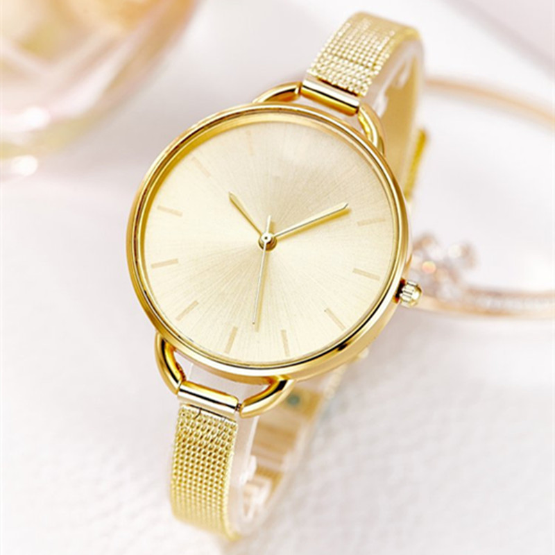 11.11 Top Brand JW Big Dial Gold Bracelet Watches Women Luxury Stainless steel Wristwatches Ladies Fashion Quartz Watch Clock fashion simple style top luxury brand longbo watches men stainless steel wristwatches quartz watch big gold dial clock man watch