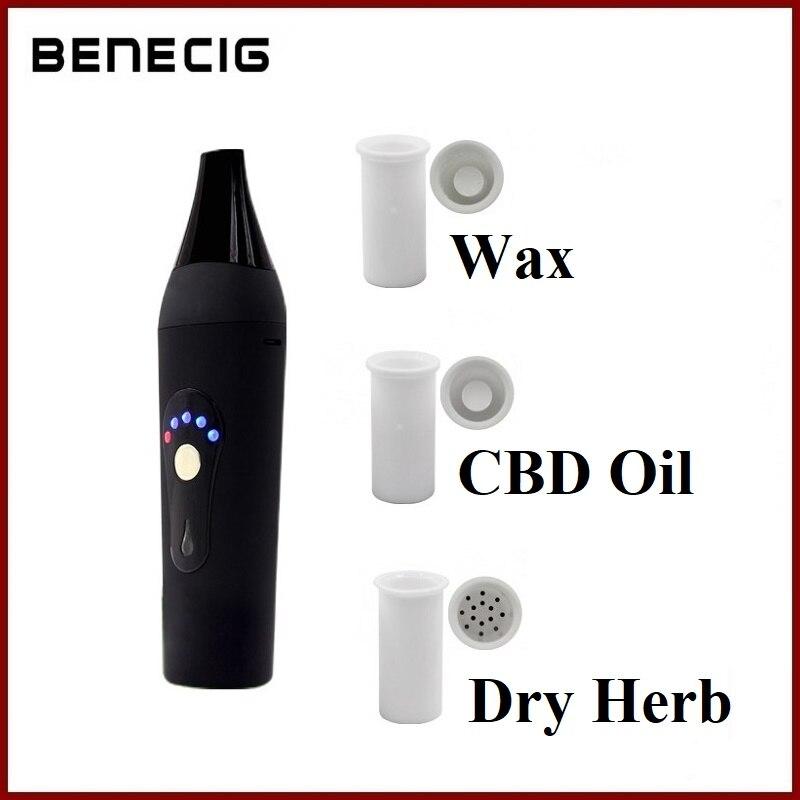 Benecig 3 in 1 Digital Baking Vape Kit For Wax CBD Oil Dry Herb Vaporizer 2200mAh