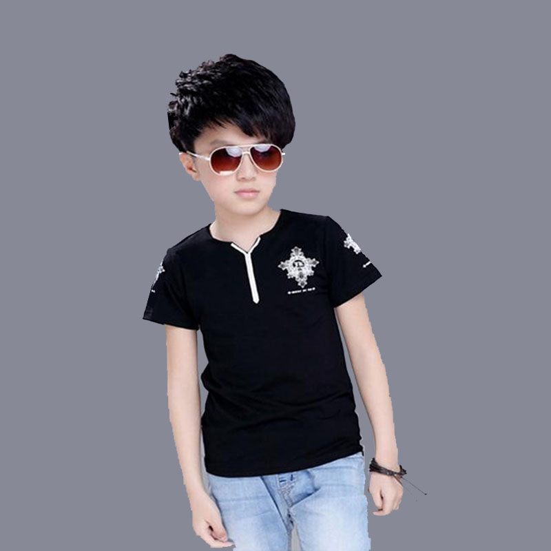 boys t-shirt 2-10T summer v-neck children clothes kids short sleeve shirts brand vestidos infantil boy t shirts kids tops tees 2 pcs summer kids short sleeve t shirt page 5