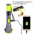 6-in-1 Martillo de la Seguridad Del Coche de Emergencia Antorcha manivela LED Linterna Antorcha Cargador para Móvil Teléfono Inteligente A Prueba de agua
