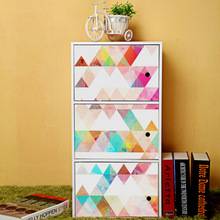 Nordic ins geometric triangle minimalist style 3D multi-purpose Waterproof non-slip wear-resistant wall stickers PVC
