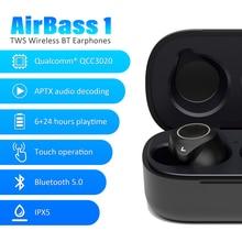 Instock leagoo tws a1/airbass a1 sem fio fone de ouvido controle voz bluetooth 5.0 redução ruído da torneira controle