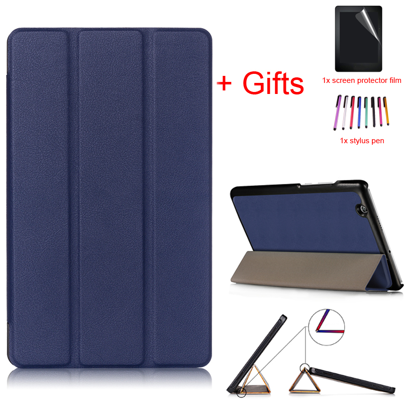 Funda Case for Huawei MediaPad M3 8.4 2016 BTV-W09 BTV-DL09 8.4inch Tablet Ultra Slim PU Leather Stand Protective Cover+Film+Pen