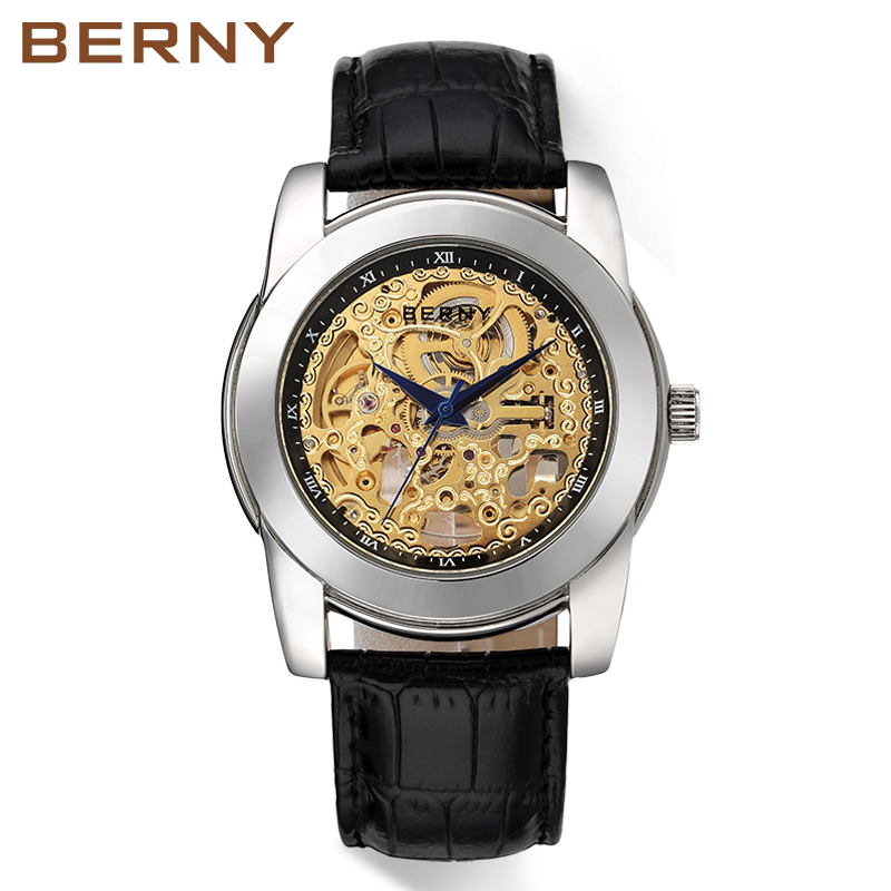 Berny horloge mannen mechanische en automatische herenhorloges luxe - Dameshorloges - Foto 3