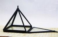Пирамида Дисплей Box-мини Стекло пирамида-шкатулка-ручной работы мини висит Стекло завод террариум indoor Садоводство украшения