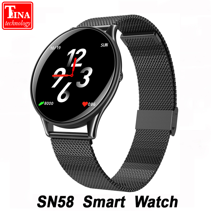 Waterproof SN58 Smart Watch Heart Rate Blood Pressure 2.5D Touch Screen Bluetooth Smartwatch for Android IOS Phone PK Q8 Q1 xanes a6s