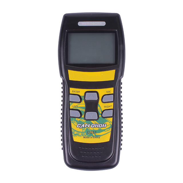 Free Shipping U581 OBD2 Car Engine Fault Code Reader Diagnostic Scanner CAN BUS Protocol Scan Tool Code Readers Vehicle Tester