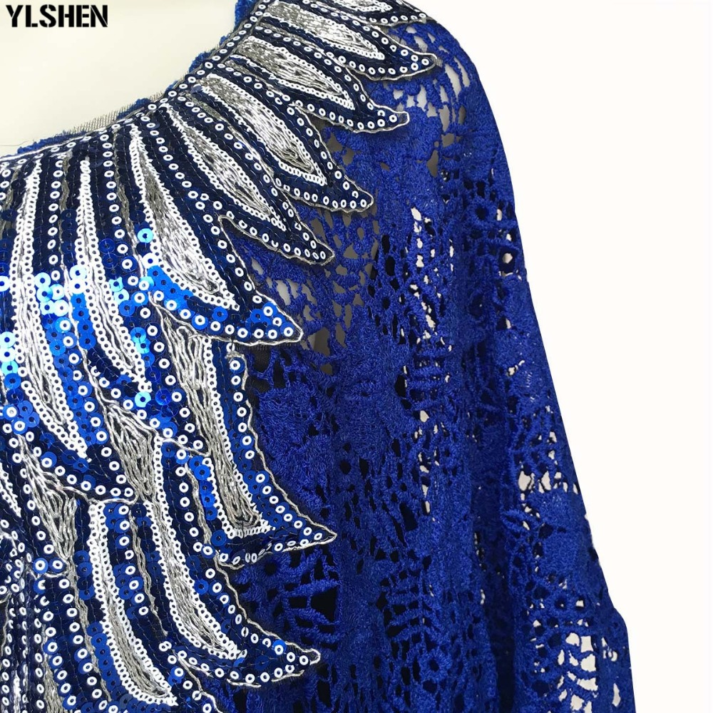 African Dresses for Women Dashiki Lace African Clothes Bazin Broder Riche Sexy Embroidery Sequins Robe Evening Long Dress 2019 35