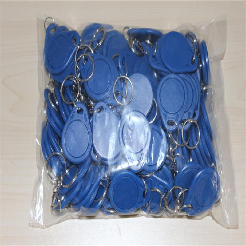 где купить 100pcs/lot 125khz ID Keyfob RFID Tag TK4100 EM4100 Access Control Time Attendance Card Sticker Key Fob Token Tags Ring Proximity по лучшей цене