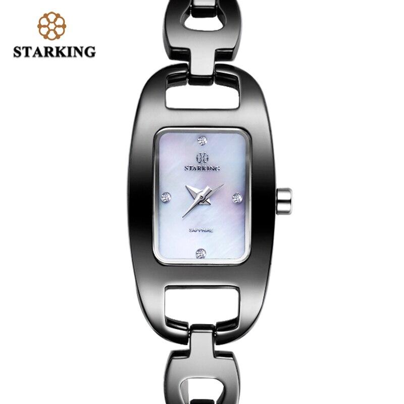 STARKING Relogio Feminino femmes montres en céramique de haute qualité mode femmes noires montres 3ATM étanche montres à Quartz