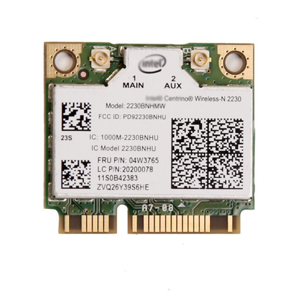 Intel 2230 2230BNHMW 300Mbps Wifi Bluetooth 4.0 Mini PCIe Wifi Card 04W3765 For Y400 Y500 Y410P Y430P Y510P E330  E430 V480 V580