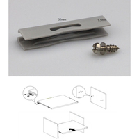 50Pcs Plastic Grooved Conceal Invisible Furniture Cabinet Cupboard Shelf Clip Pin Bracket Holder Slide Push Locking Clip