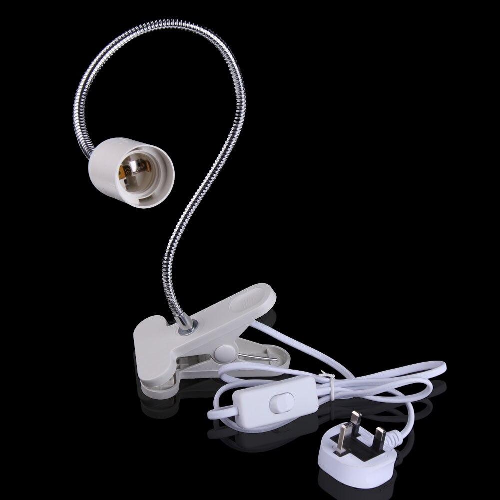 Superior Flexible E27 LED Lamp Holder On off Switch 50Cm Power Cable Cord w/ Clip UK Plug BS прибор от комаров off clip on с фен системой сменный картридж н новгород