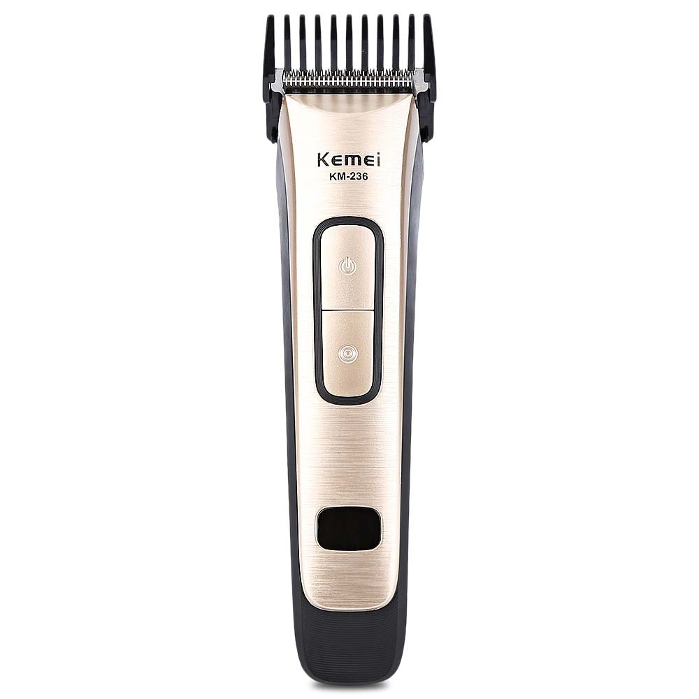 Kemei Electric Hair Trimmer Portable Rechargeable Hair Clipper Shaver Razor Cordless Adjustable Clipper kemei km 9801 ceramic cutter rechargeable electric hair clipper trimmer razor cordless adjustable clipper haircut free shipping