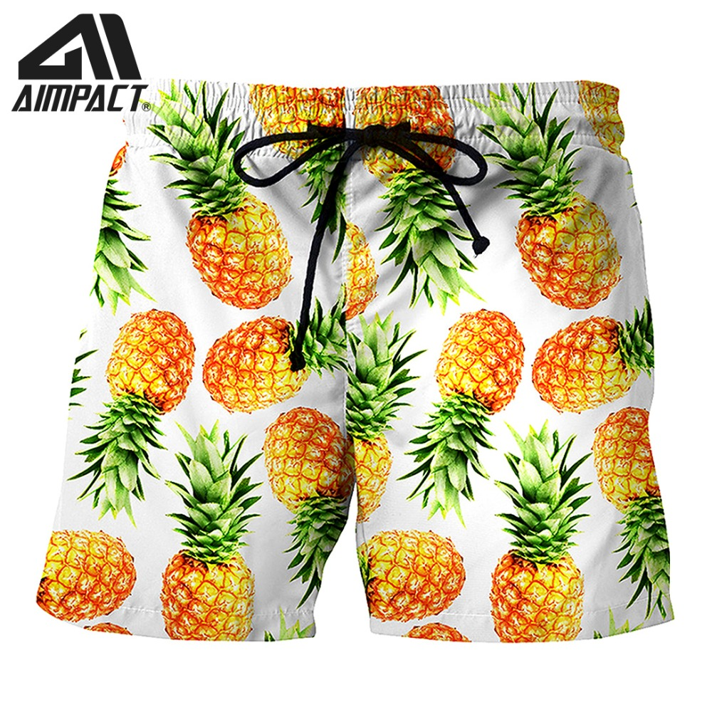 2019 New Quick Dry   board     shorts   Pineapple Summer Holiday Beach Surf Swimming Trunks Male Casual Leisure Homewear   Shorts   AM2154